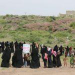 تعز: الهيئة النسائية لأنصار الله تنظم وقفة احتجاجية تنديداً بجرائم العدوان ومرتزقته