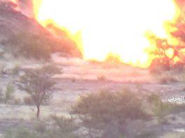 مقبرة جماعية.. شاهد كمين يفتك بمرتزقة الجيش السعودي بعسير ويرديهم أشلاء